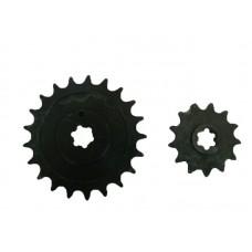 Звезда  задняя (под Иж) + передняя под цепь мотоцикла ИЖ (21+13 зубов) мотоцикла Муравей