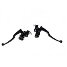 Рычаги тормоза/сцепления мотоцикла ИЖ с кронштейнами и натяжителями троса (пара)