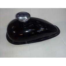 Бензобак F50/F80, 1,5 л, чёрный (с НАРУЖНОЙ резьбой под бензокран)