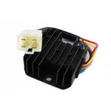 Реле регулятор напряжения для двигателя 152QMI/157QMJ 125/150cс (1 штекер 4 конт.)