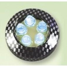 Фонари самоклеющиеся светодиодн. круглые (2шт) M18AB1 карбон синий мигающий cвет