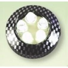 Фонари самоклеющиеся светодиодн. круглые (2шт) M18AW1 карбон белый мигающий cвет