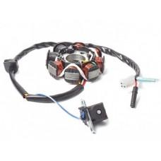Статор генератора 4T двиг.139QMB 50сс (2 индукц. кат. 5 конт.)