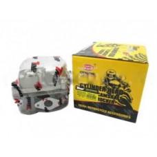 Головка цилиндра для скутеров с двигателем 139QMB d-50mm 82сс в сборе (клапана/рокера/распредвал/крышка)