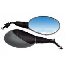 Зеркало для скутера (пластик/литой корпус/серый М8)