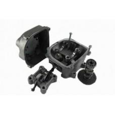 Головка цилиндра для двигателей 157QMJ/152QMI d-57.4mm 150cc в сборе (клапана/рокера/распредвал/крышка клапанов)
